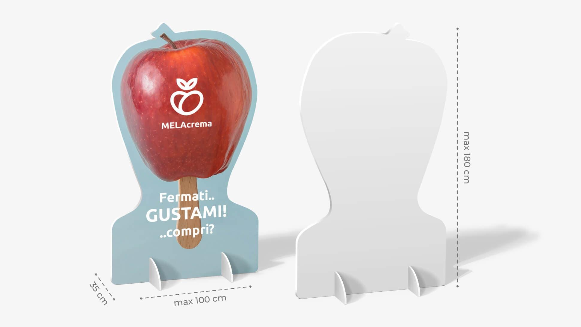 Pannello sagomato con mela  | tictac.it