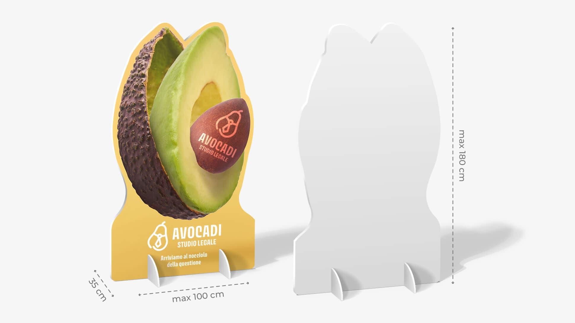 Pannello sagomato con avocado  | tictac.it
