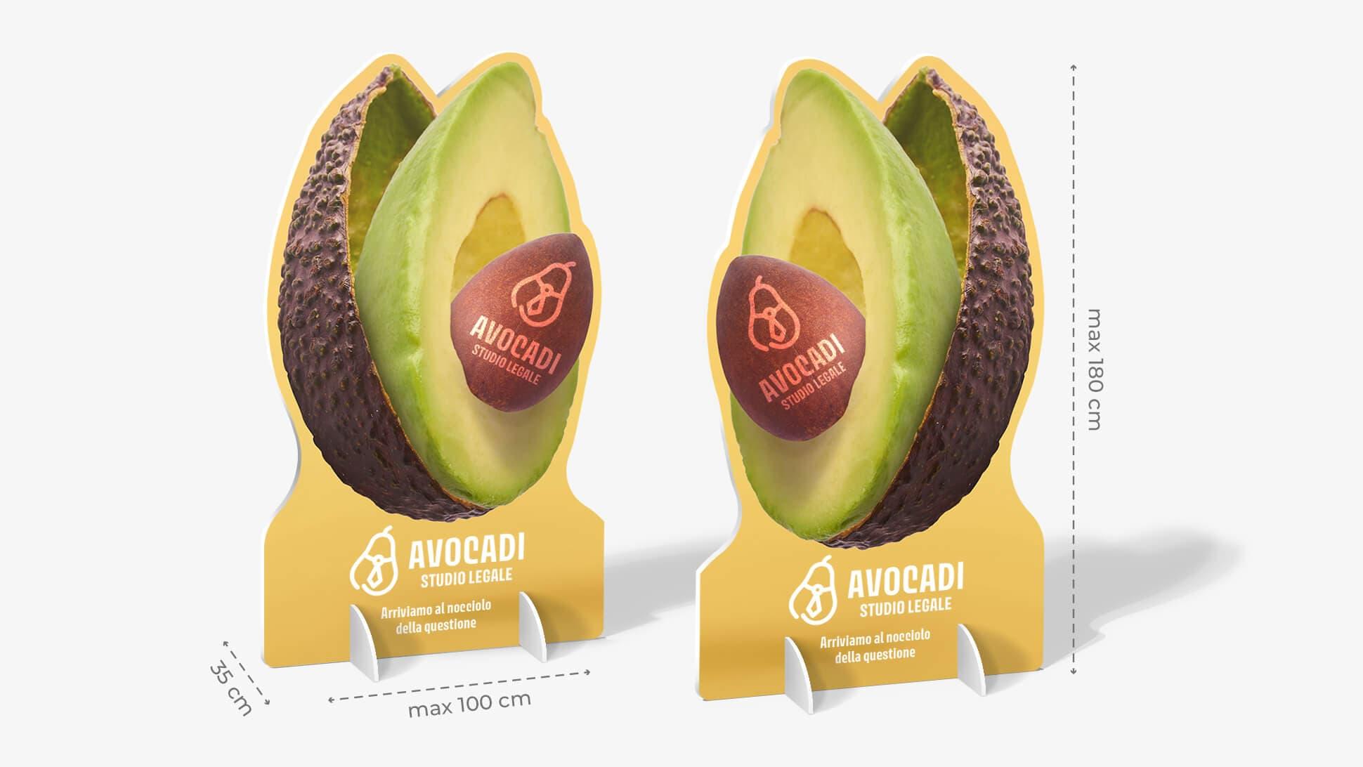 Pannello sagomato bifacciale grafica avocado   tictac.it