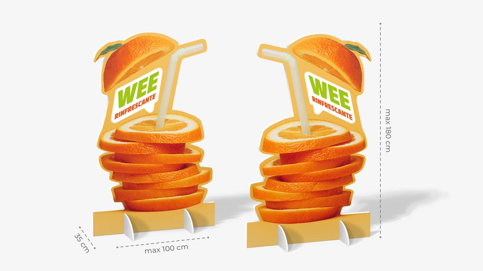 Pannello sagomato – grafica orange juice   tictac.it