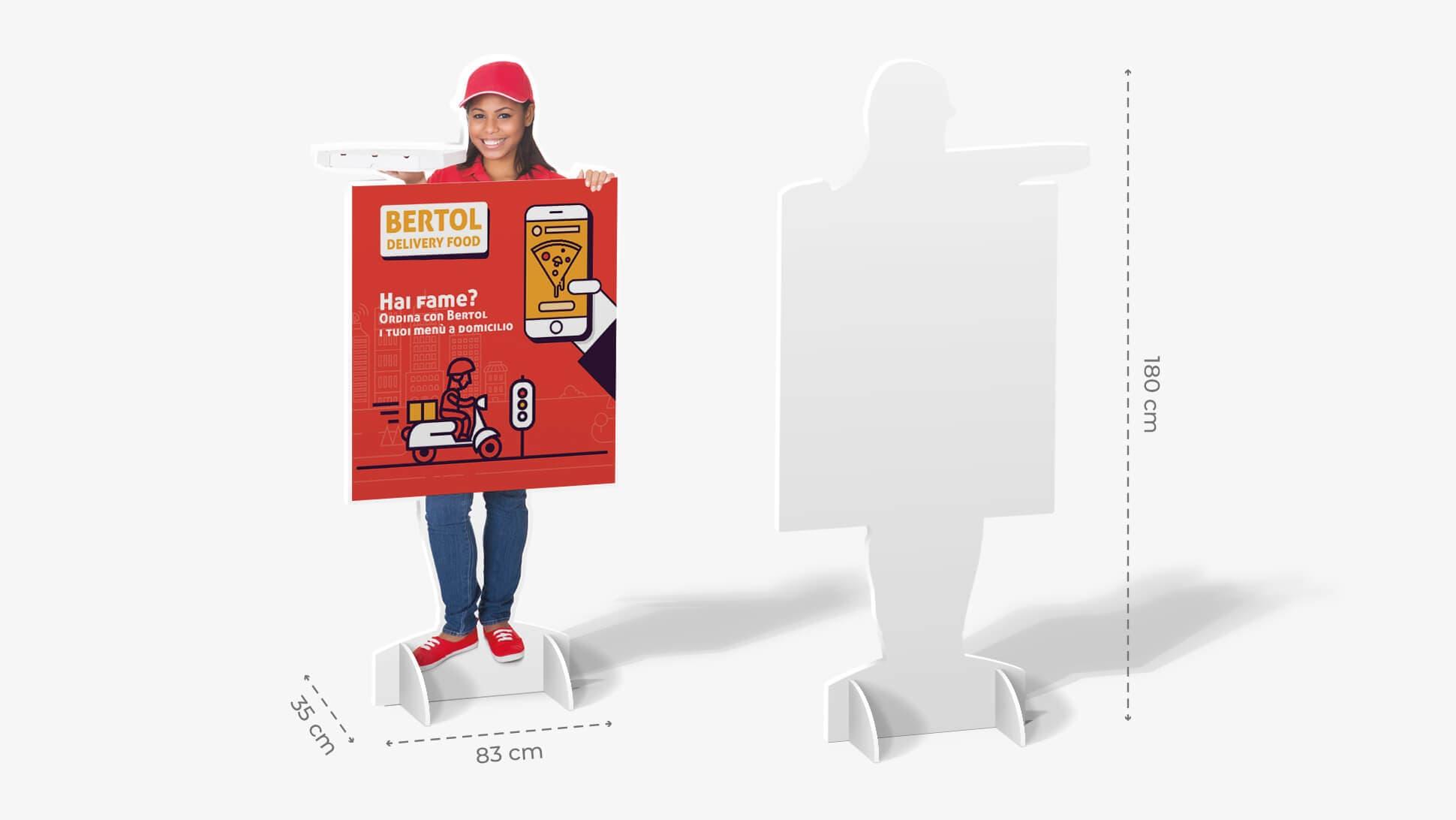 Sagomato in Sandwich con consegna e grafica| tictac.it