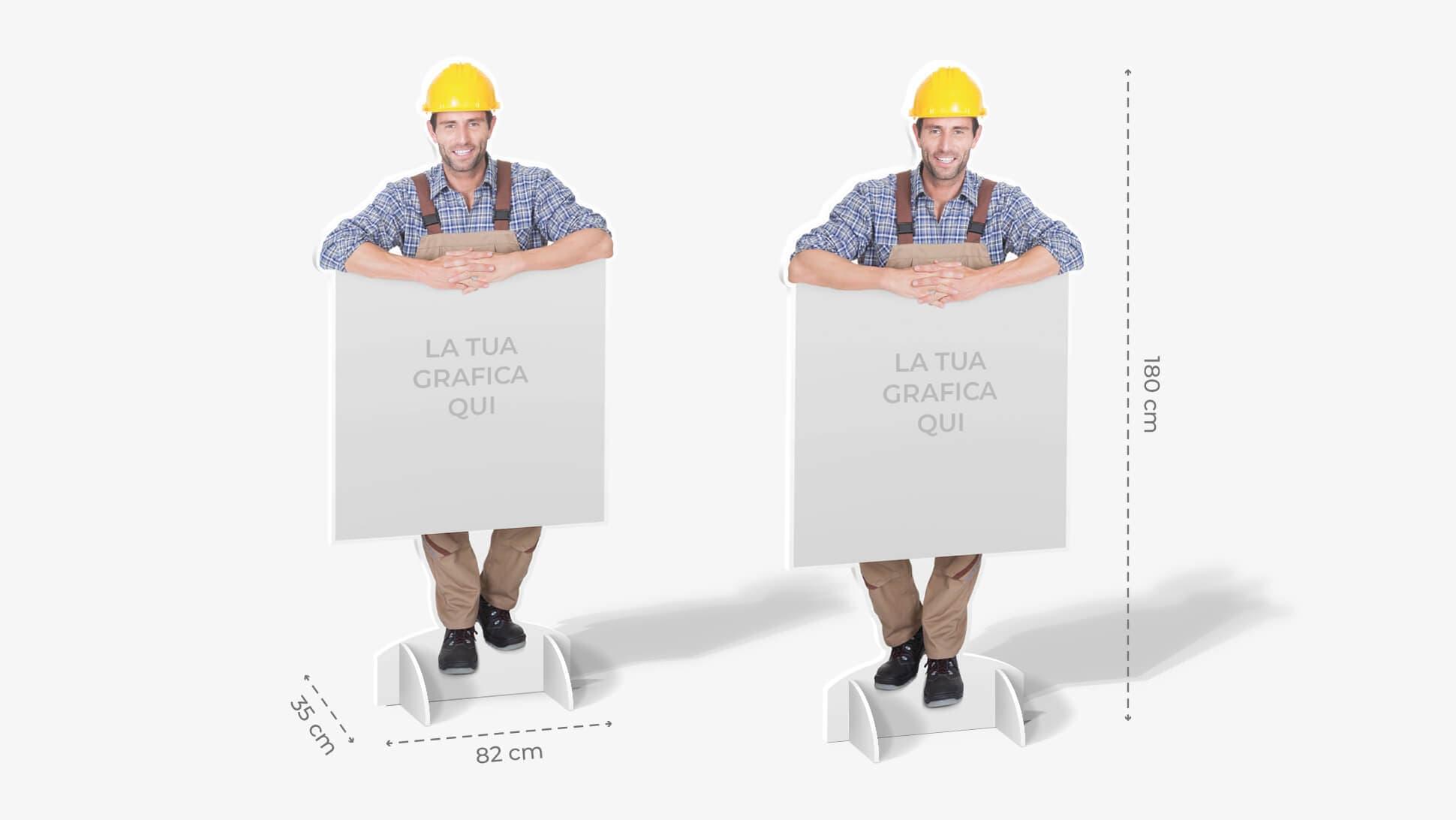 Sagome prestampate autoportanti in polionda con addetto ai lavori | tictac.it