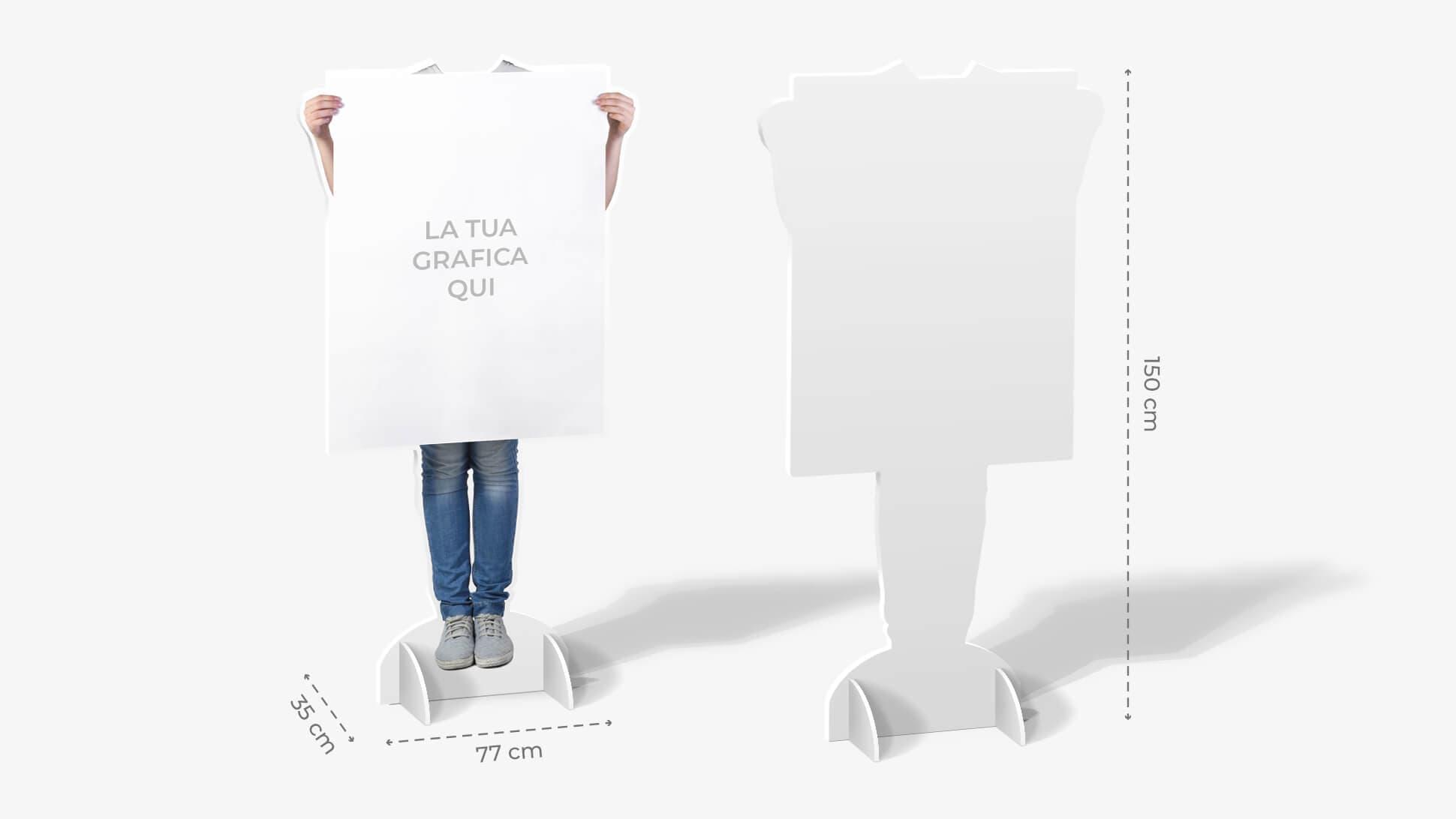 Sagome prestampate autoportanti in polionda con ragazzo in jeans | tictac.it