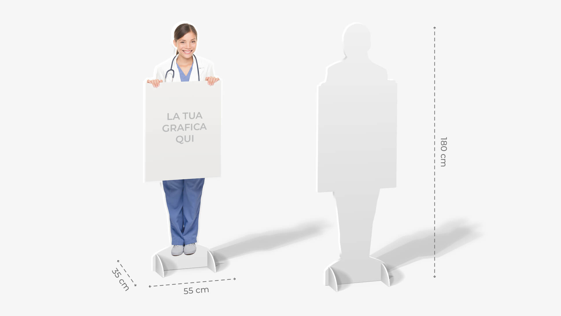 Sagome prestampate autoportanti in polionda con infermiera | tictac.it