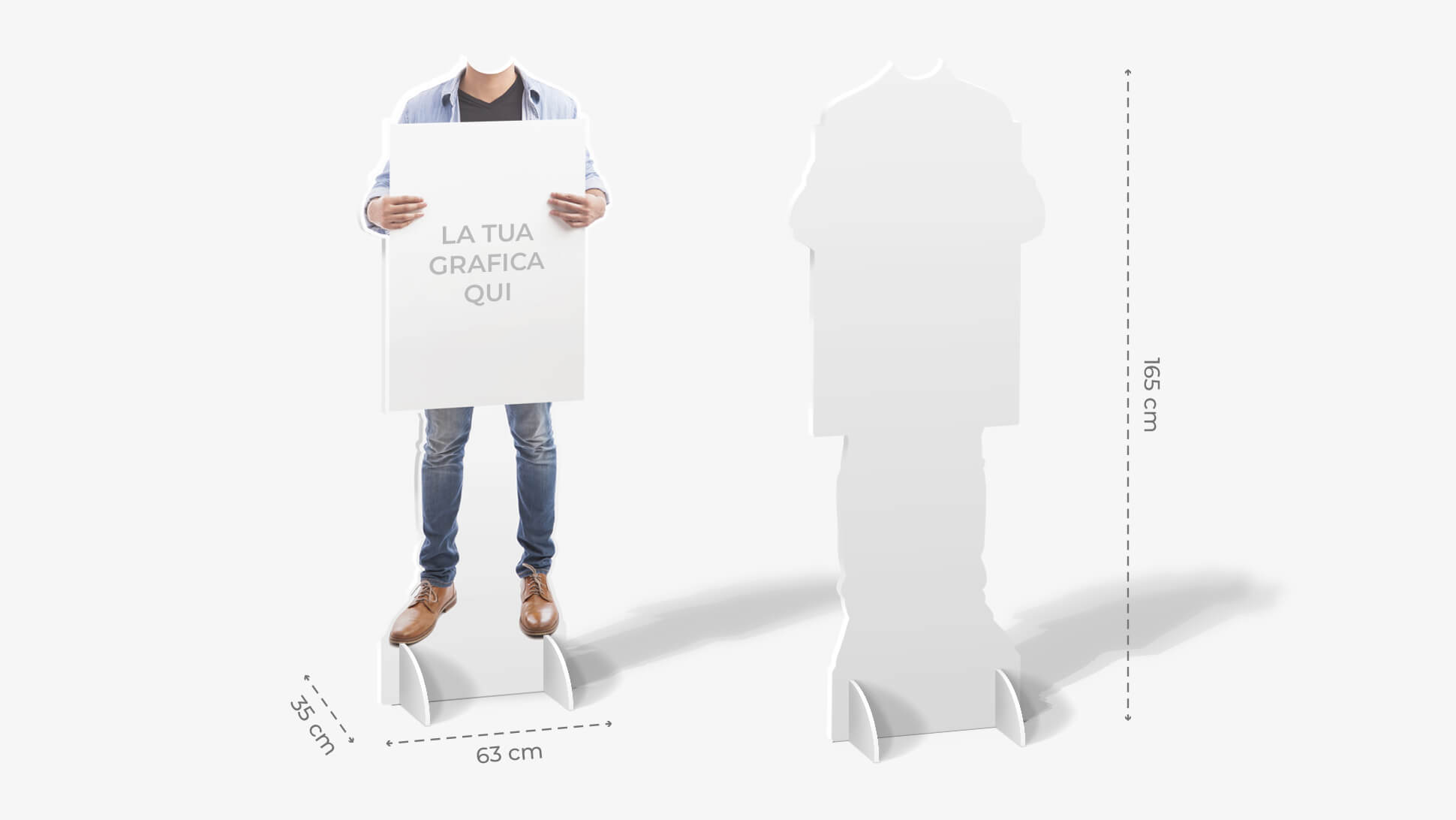 Sagome prestampate autoportanti in laminil con ragazzo con camicia | tictac.it