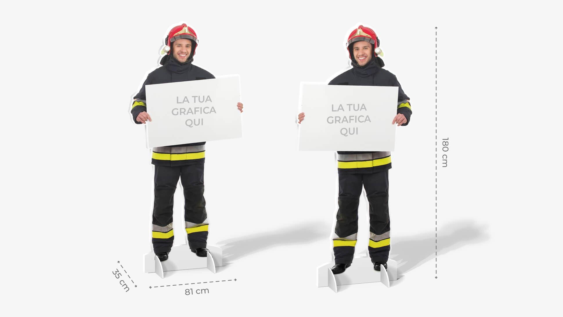 Sagome prestampate autoportanti in laminil con pompiere   tictac.it