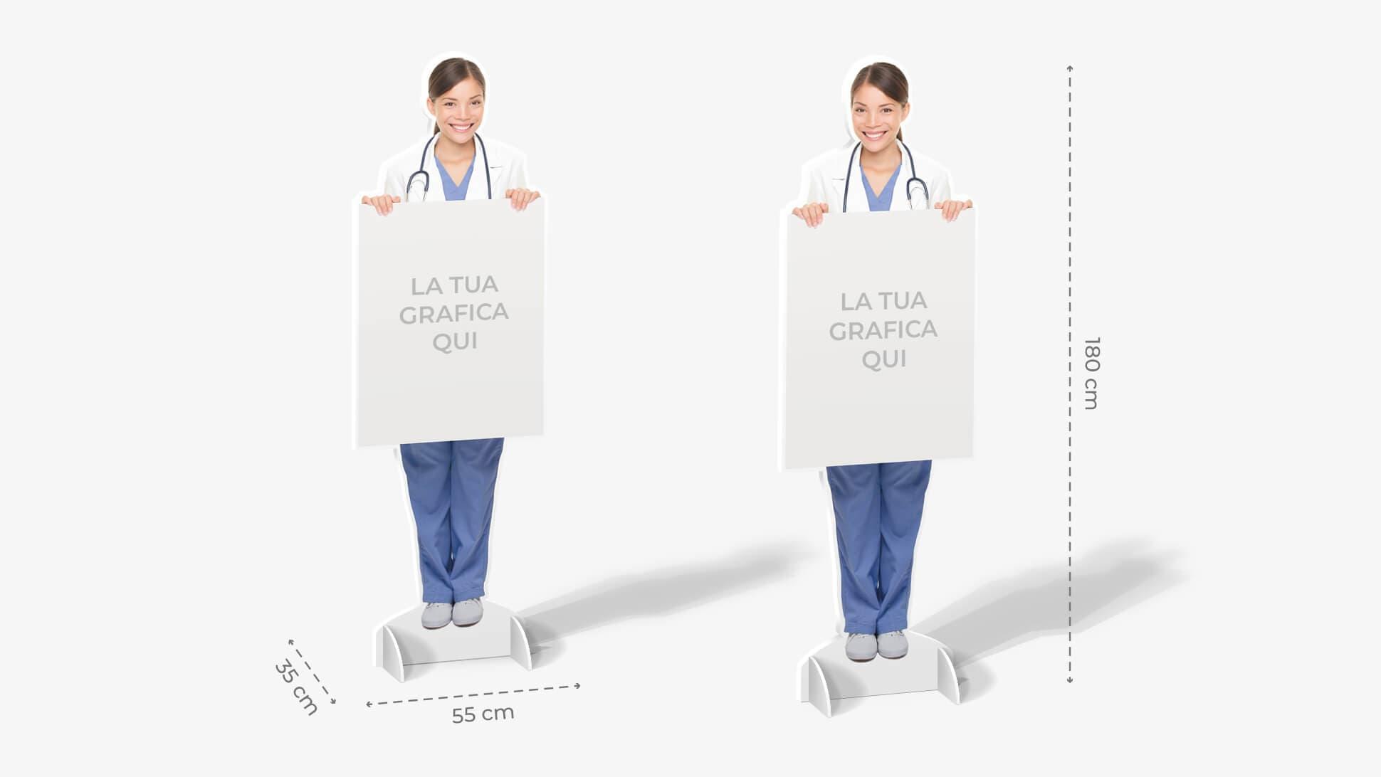 Sagome prestampate autoportanti in laminil con infermiera   tictac.it