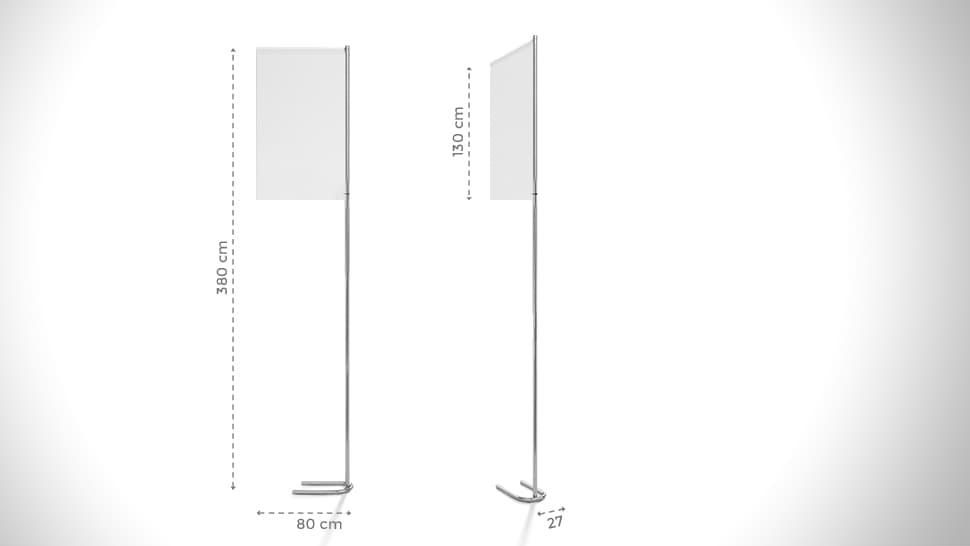 Bandiera personalizzabile 380x80 cm | tictac.it
