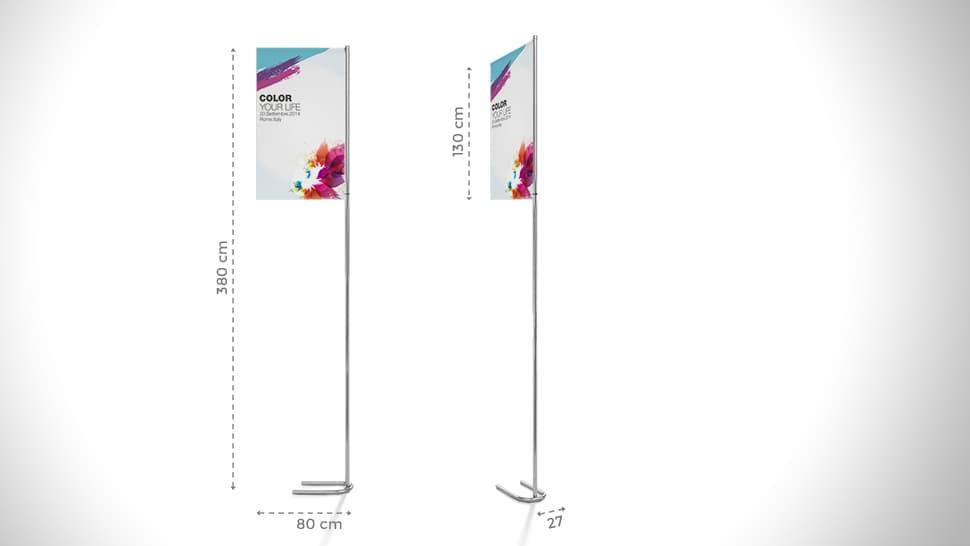 Bandiera personalizzata 380x80 cm | tictac.it