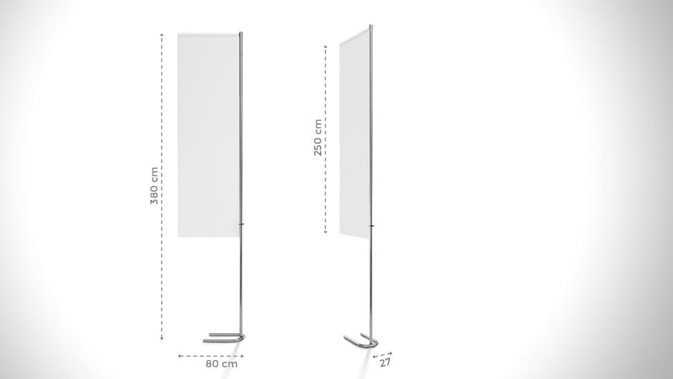 Bandiera 380x80 cm personalizzabile | tictac.it