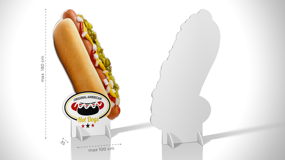 Pannello sagomato grafica Hot Dogs  | tictac.it
