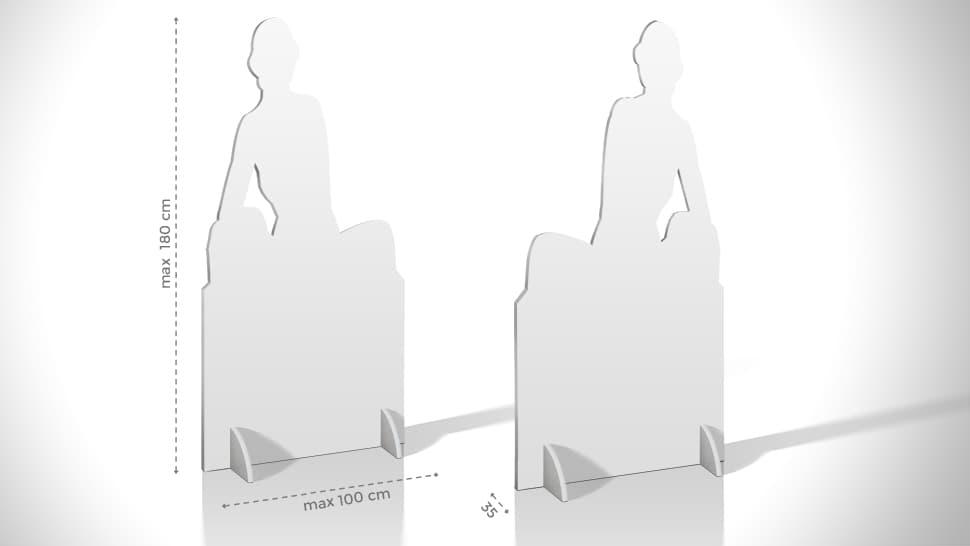 Pannello sagomato – grafica donna 180x100 cm   tictac.it