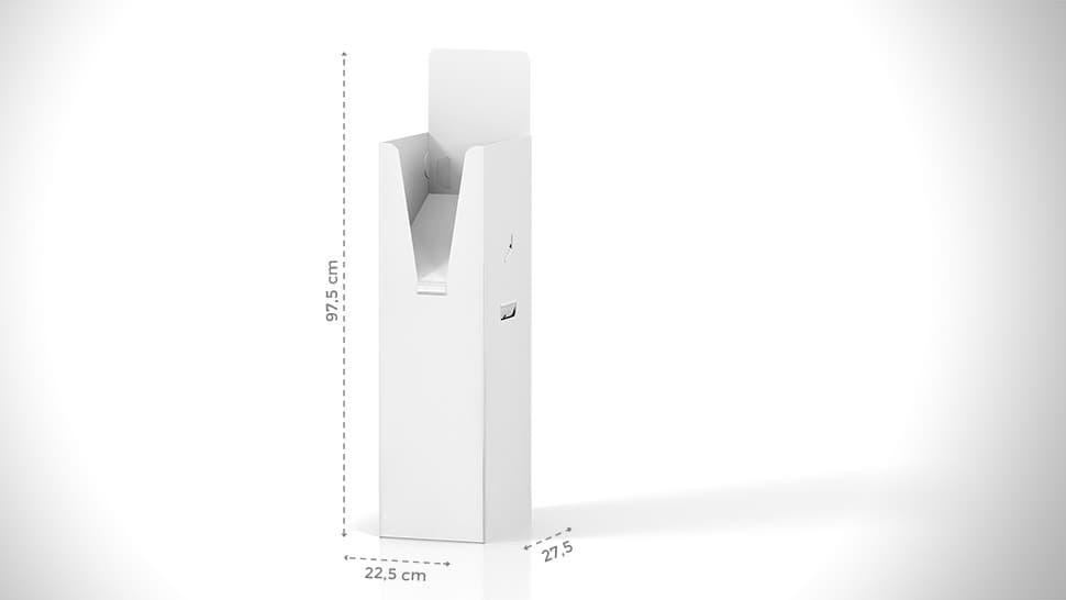Portariviste h97,5 cm con grafica personalizzata | tictac.it