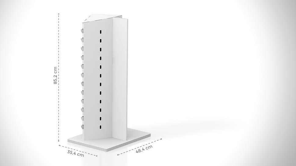 Portaocchiali da banco personalizzabile h85,5 cm | tictac.it