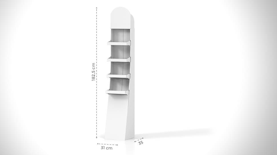 Espositore prodotti personalizzabile h182,5 cm | tictac.it