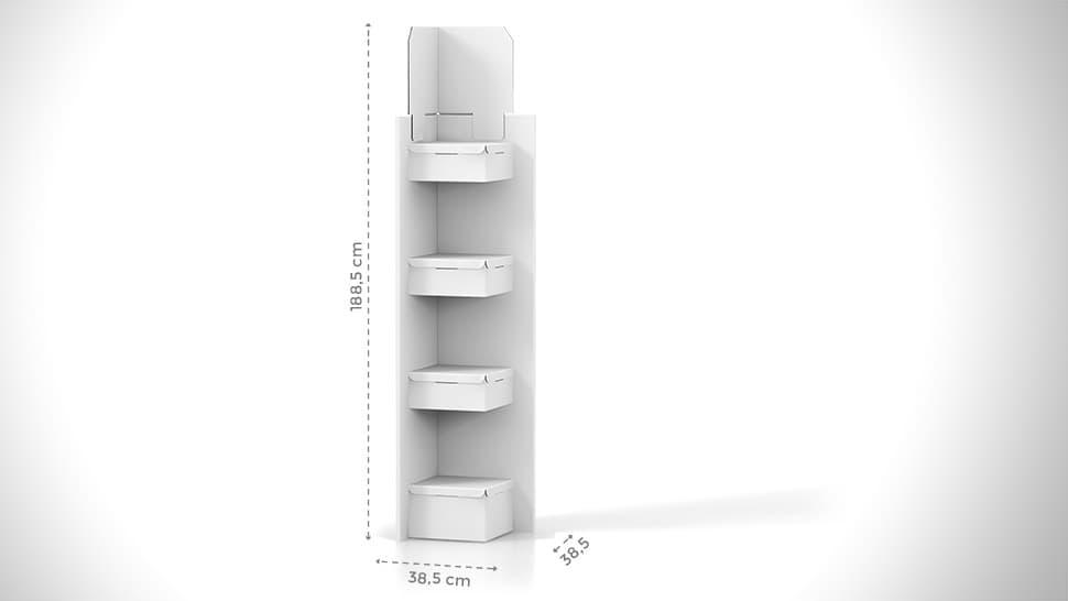 Espositore prodotti da terra personalizzabile h188,5 cm | tictac.it