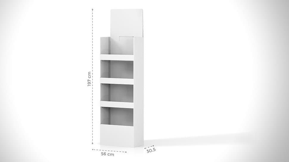 Portaprodotti personalizzabile h197 cm per negozi | tictac.it