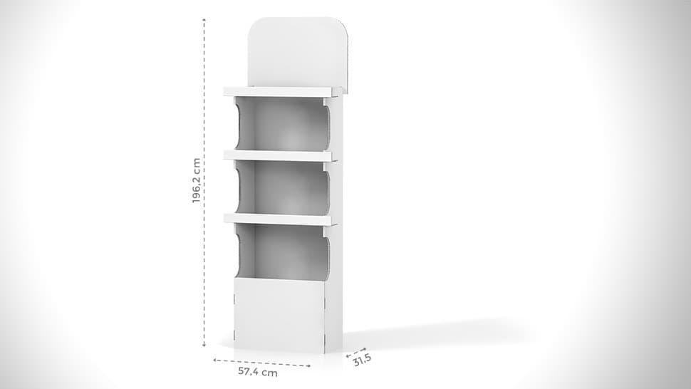 Portaprodotti in cartone personalizzabile h196,2 cm | tictac.it