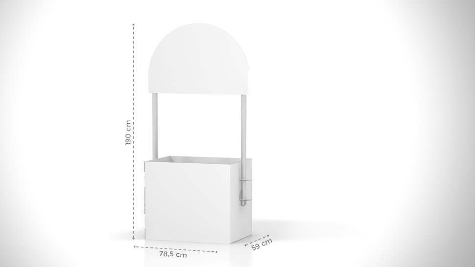 Pallbox in cartone personalizzabile h190 cm | tictac.it