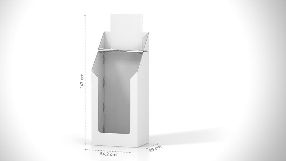 Contenitore espositivo in cartone con grafica personalizzabile | tictac.it