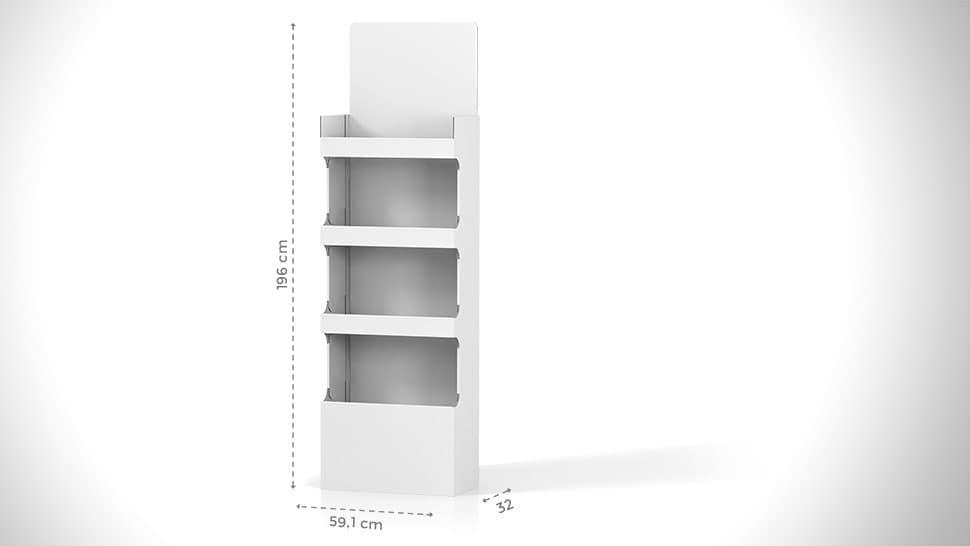 Portaprodotti da terra personalizzabile h196 cm | tictac.it