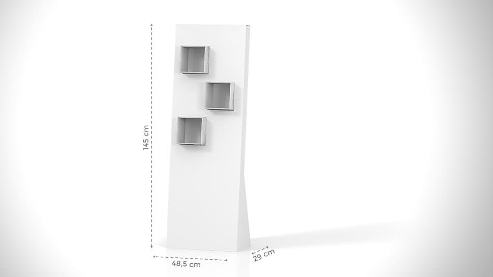 Portaprodotti da terra con 6 ripostigli | tictac.it