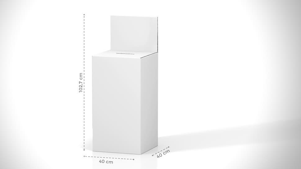 Urna da terra personalizzabile in cartone 102,7x40 cm | tictac.it
