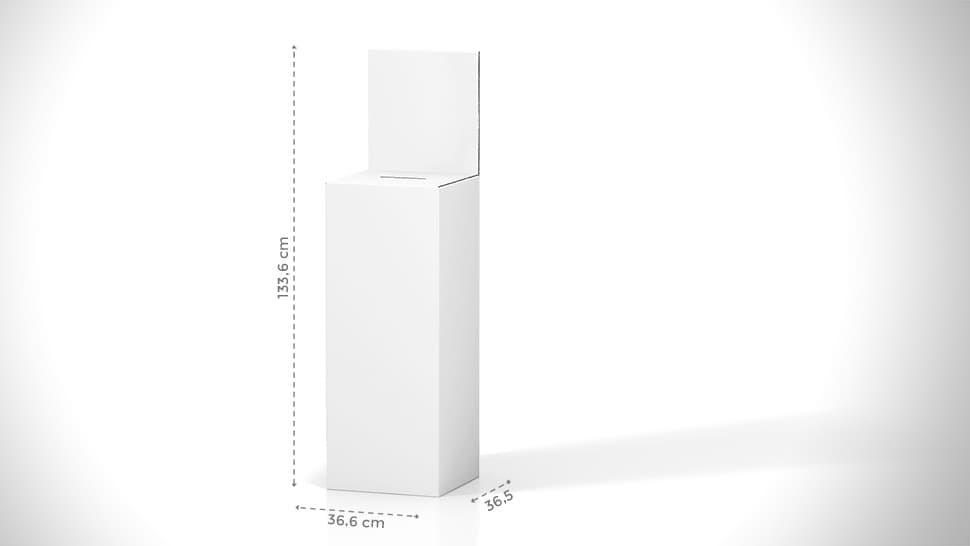 Urna da terra personalizzata in cartone 133,6x36,6 cm | tictac.it