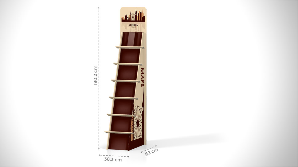 Portaprodotti inclinato con scaffalatura h190cm | tictac.it
