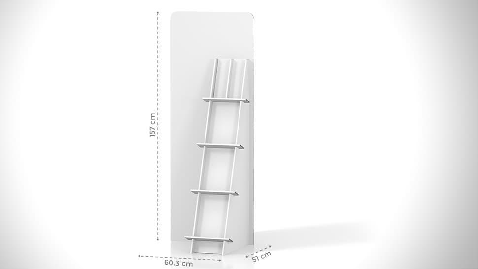Portaprodotti inclinato con scaffali h157cm – grafica personalizzata | tictac.it