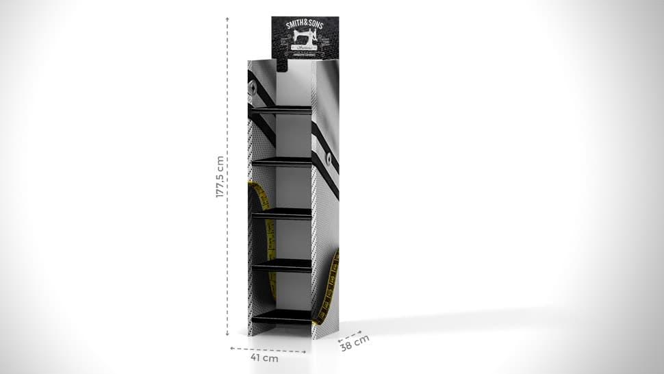 Espositore portaprodotti da terra h177,5 cm | tictac.it