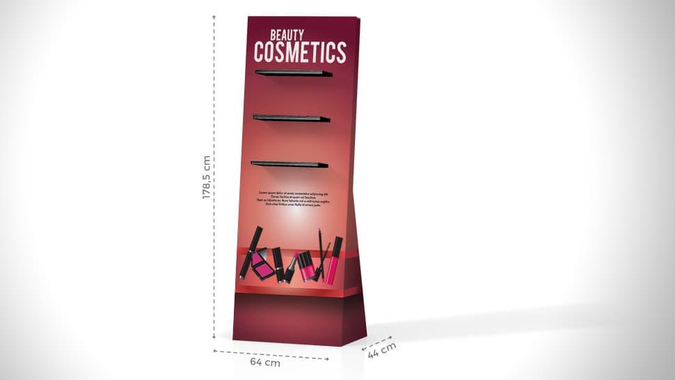 Espositore per cosmetici con scaffali | tictac.it