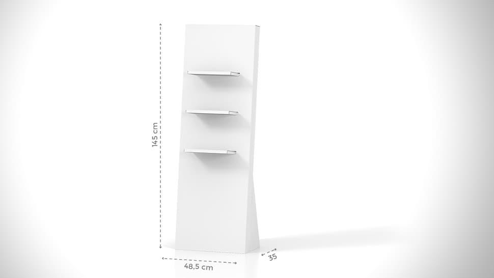 Espositori h145 cm in cartone con grafica personalizzata | tictac.it