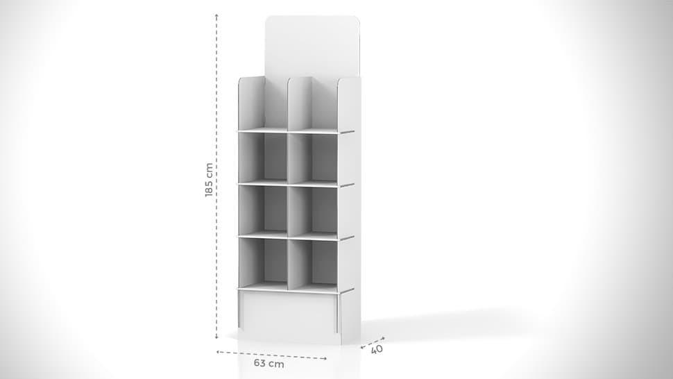 Espositore 185x33,9 cm in cartone personalizzato | tictac.it