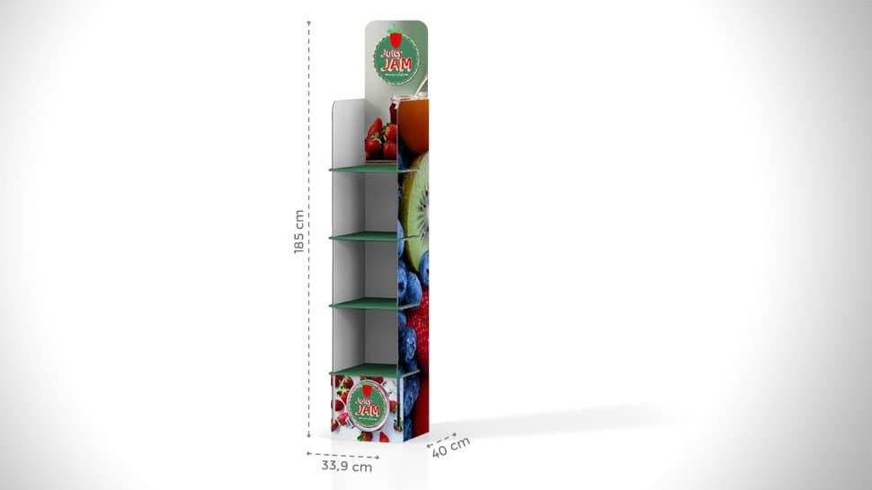 Espositore prodotti 185x46,4 cm | tictac.it