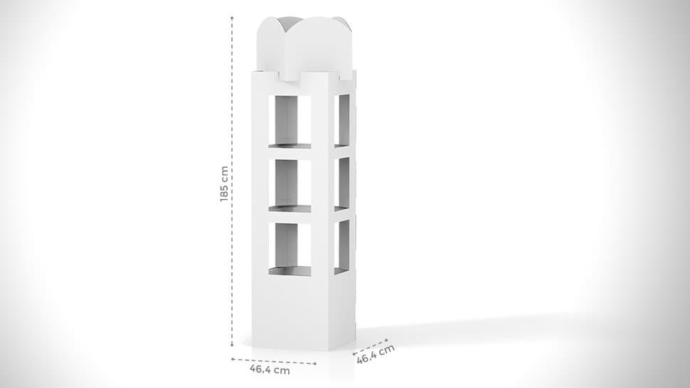 Espositore torre personalizzato 185x46,4 cm | tictac.it
