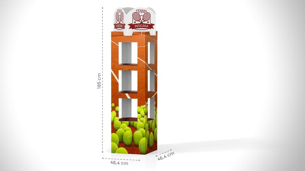 Espositore torre 185x46,4 cm | tictac.it