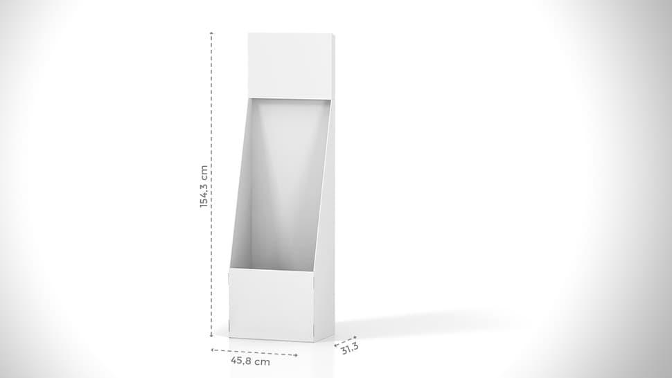 Contenitore in cartone h154,3 cm con grafica personalizzata | tictac.it