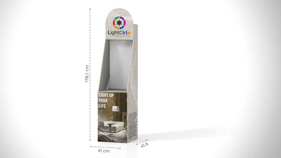 Contenitore in cartone h176 cm | tictac.it