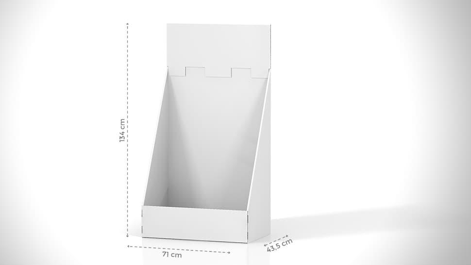 Contenitore in cartone 134cm personalizzato | tictac.it