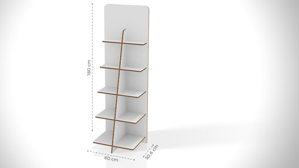 Portaprodotti personalizzabile con divisorio h180 cm | tictac.it