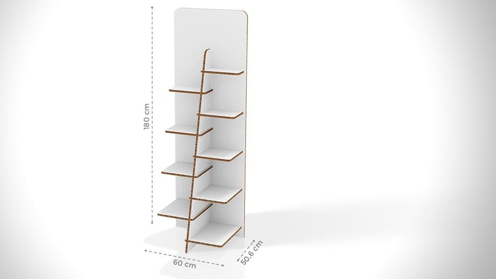 Portaprodotti personalizzabile con divisorio 180x60 cm | tictac.it