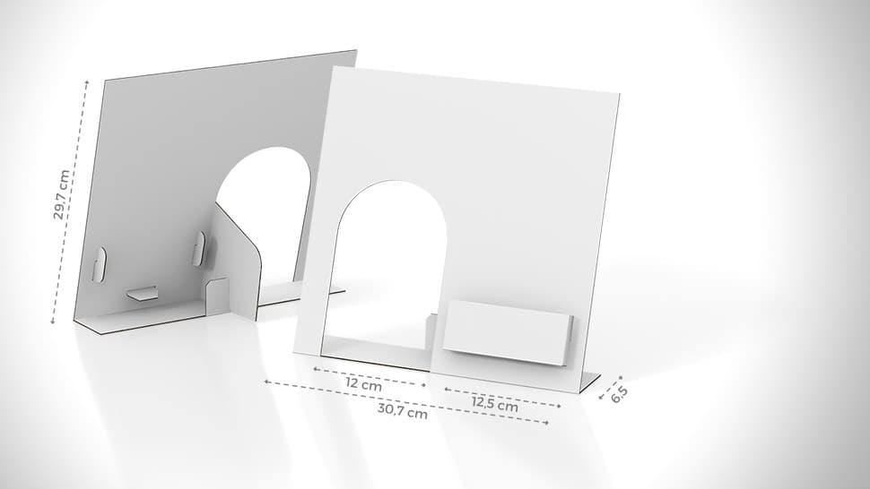Display acqua personalizzabile con tasca a destra | tictac.it