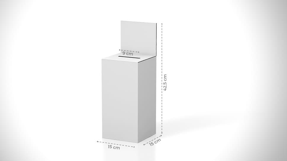 Urna da banco 42,5x15 cm con grafica personalizzabile | tictac.it