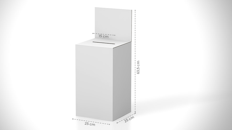 Urna da banco 63,5x25 cm con grafica personalizzabile | tictac.it