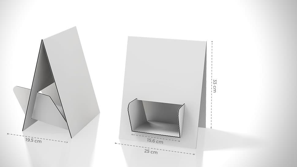 Portadepliant da tavolo bifacciale e personalizzabile | tictac.it