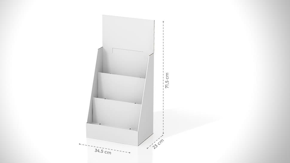Portaprodotti da banco con diversi ripiani personalizzabile | tictac.it