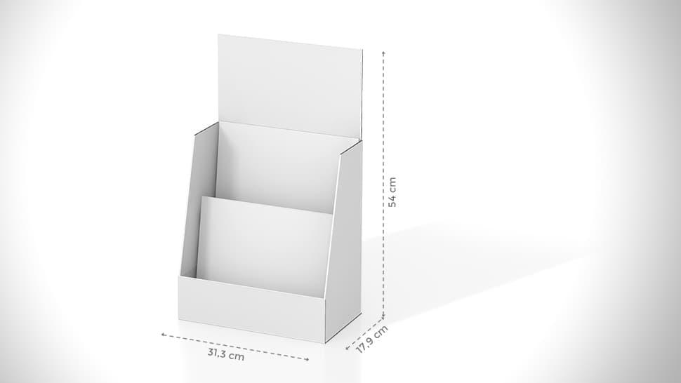Portavolantini da banco 54x31,3 cm personalizzabile | tictac.it