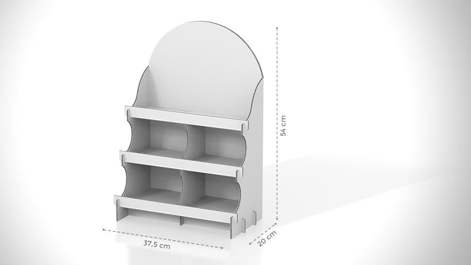 Vetrina espositiva da banco realizzata in cartone 37,5x54cm | tictac.it