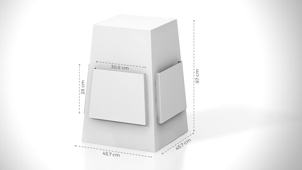 Espositore portavolantini da banco 28x45,7 cm personalizzabile | tictac.it